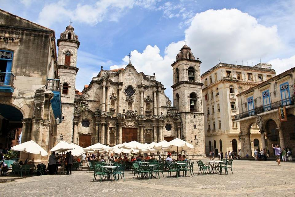 The cathedral in Havana
